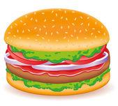 Hamburgers vector illustration — Stock Vector
