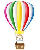 Hot air balloon vector illustration — Stock Vector