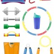 Royalty-Free Stock Vector Image: Fitness icons set vector illustration