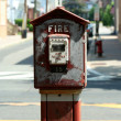 Old fire alarm box — Stock Photo