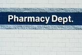 Pharmacy Dept sign — Stock Photo