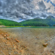 Panorama of glacial Black lake in Durmitor — Stock Photo
