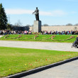 Victory day on Piskaryovskoye Memorial Cemetery — Stock Photo #10391105