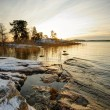 Winter sunset in Finland — Stock Photo