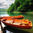 Boats on a lake — Stock Photo