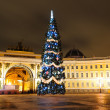 Christmas tree in Saint Petersburg — Stock Photo