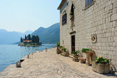 Benedictine monastery in Perast — Stock Photo