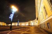 Night Palace square in Saint Petersburg — Stock Photo