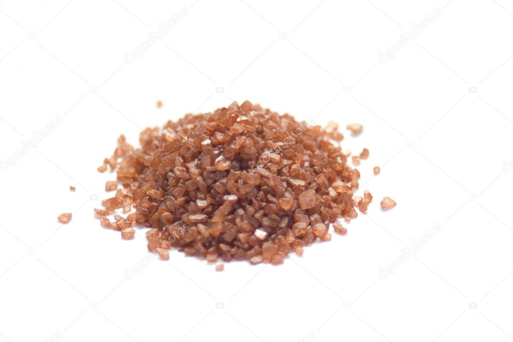 Hawaiian Alaea red sea salt isolated on white  Stock Photo #10031632