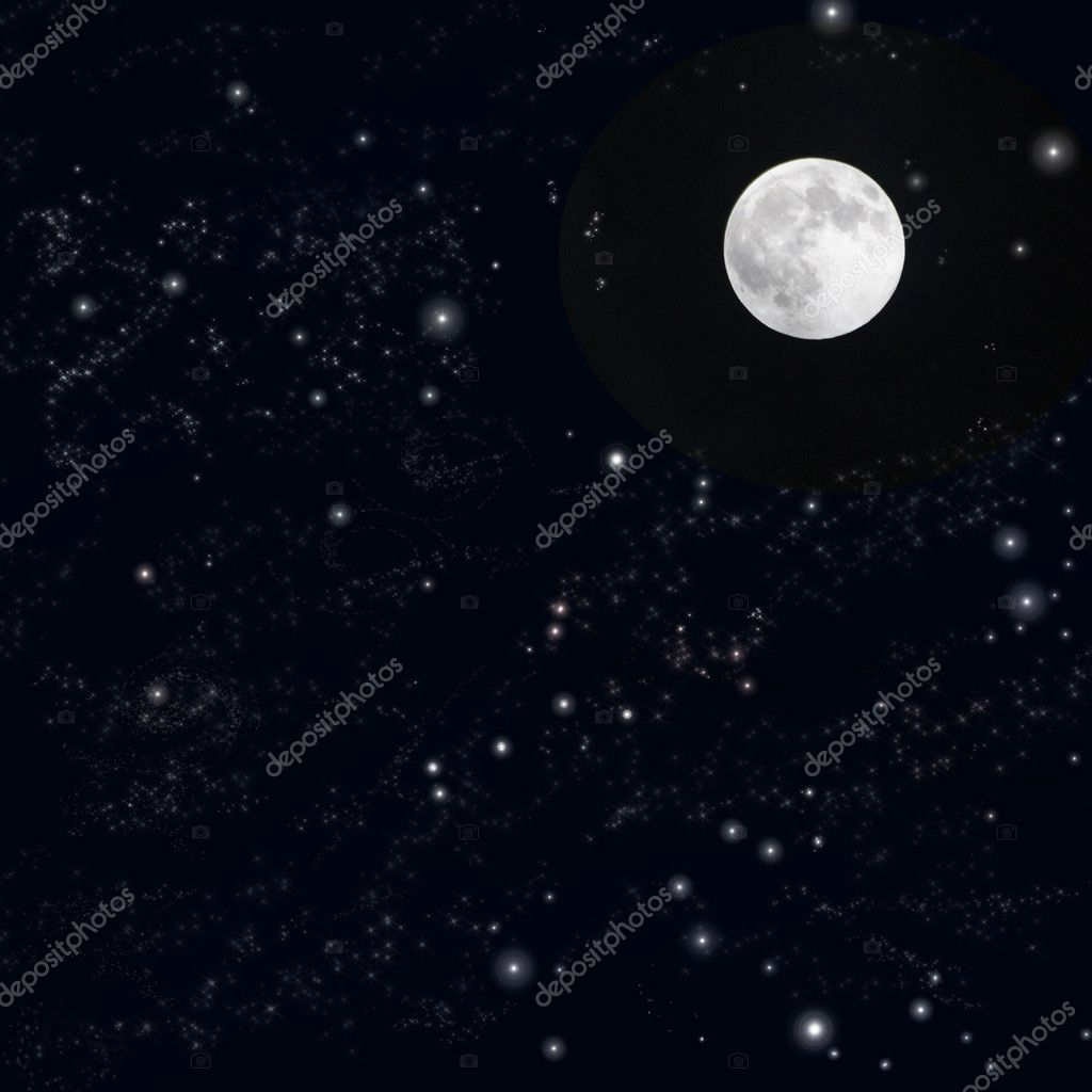 Moon sky background — Stock Photo #10031805