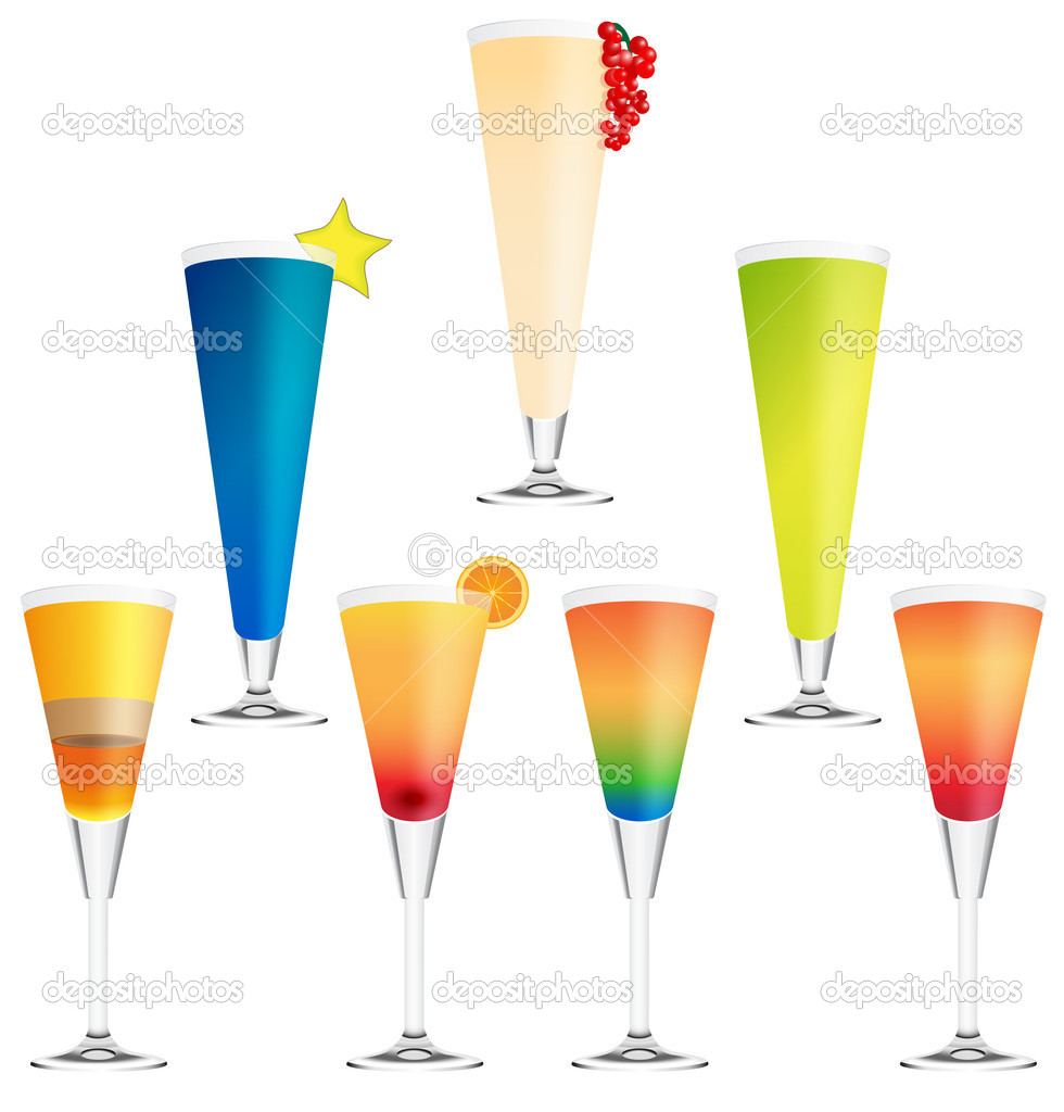 Collection of vector cocktails — Stock Vector #10031851