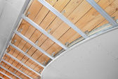 Suspended ceiling in the stage of construction — Stock Photo