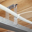 Stock Photo: Electrical wiring in suspended ceiling
