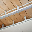 Electrical wiring installed in the ceiling — Stock Photo