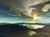 Desert sunset — Stock Photo