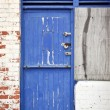 Royalty-Free Stock Photo: Old blue door