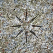 Stone texture with a star — Stock Photo
