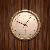 Ahşap saat — Stok fotoğraf