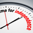 Time for independence — Foto Stock