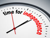 Time for independence — Foto de Stock