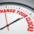 Stok fotoğraf: Change your clocks