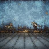Floor blue steel — Stock Photo