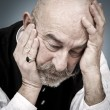 Old man sorrow - Stock Photo