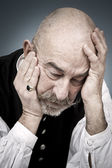 Old man sorrow — Stock Photo