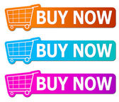 Comprar agora sinais — Foto Stock