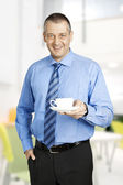 Business man coffee — Stock Photo
