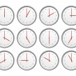 Foto Stock: 12 clocks