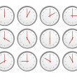 Stock Photo: 12 clocks