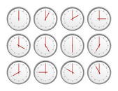 12 clocks — Stockfoto