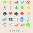 25 different stickers for your design — Stock Photo #9127360