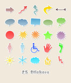 25 different stickers for your design — Stock Photo