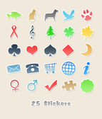 25 different stickers for your design — Stockfoto