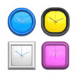 Four different clocks — Foto Stock