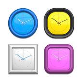 Four different clocks — Stock Photo