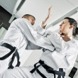 Stock Photo: Martial arts fighters
