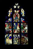 Finestra di chiesa gotica — Foto Stock