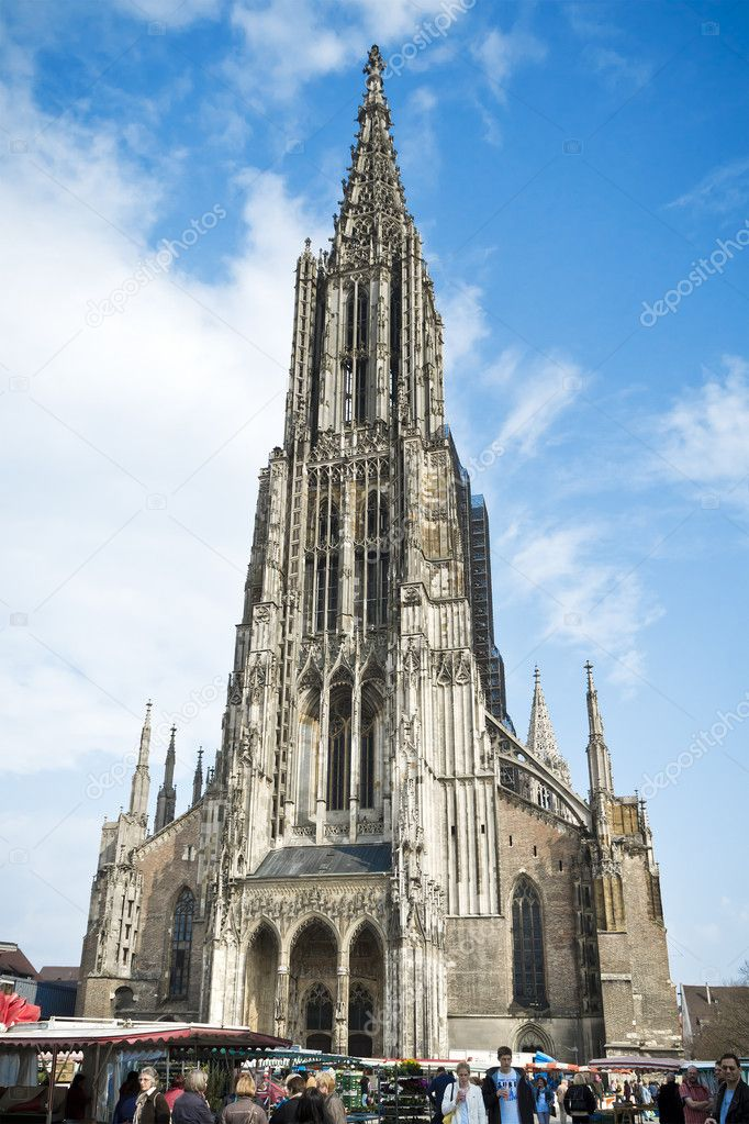 An image of the famous church in Ulm Germany with the highest tower — Stock Photo #9707613