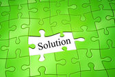 Puzzel oplossing — Stockfoto