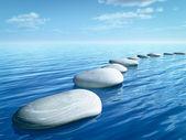 Kamienie krok — Zdjęcie stockowe