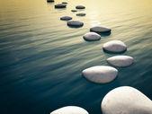 шаг камни закат — Стоковое фото