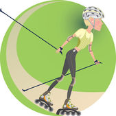 Roller skating — Stock Vector