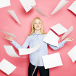 Flying Papers — Stock Photo #8428670