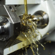 Oil in machine — Stock Photo
