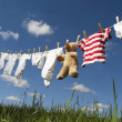 Baby clothing on a clothesline - ストック写真