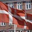 Danish Flags — Stock Photo