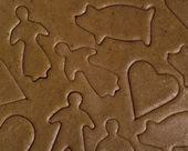 Unbaked gingerbread — Stock Photo
